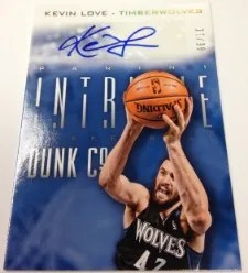 13/14 Panini Intrigue Kevin Love Dunk Co Autograph