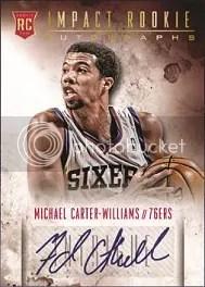 13/14 Panini Intrigue Basketball Michael Carter Williams Auto RC