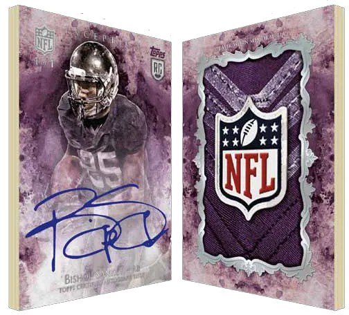 2014 Topps Inception Autograph Relic Book Card