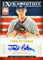 2013 Elite Todd Peterson USA Autograph