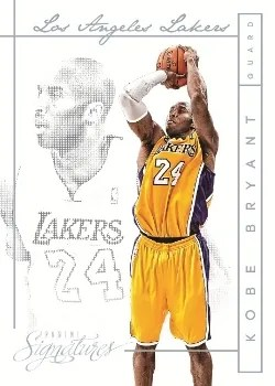 13/14 Panini Signatures Basketball Kobe Bryant Veteran Chase Insert