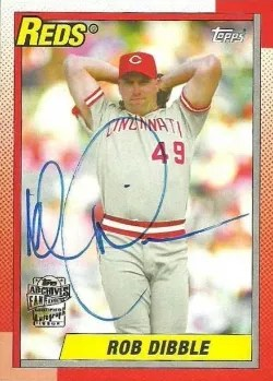 2014 Topps Archives Fan Favorites Rob Dibble Auto