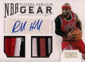 2012/13 Panini National Treasures Richard Hamilton NBA Gear Prime Auto