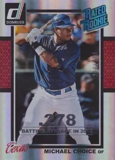 2014 Donruss Rated Rookie Season Stat Line Michael Choice