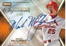 2014 Topps Stadium Club Mark McGwire Auto
