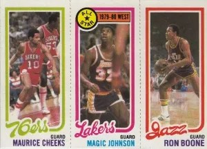 1980-81 Topps #66 Maurice Cheeks - Magic Johnson - Ron Boone