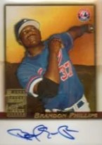 2001 Bowman Draft Brandon Phillips Auto