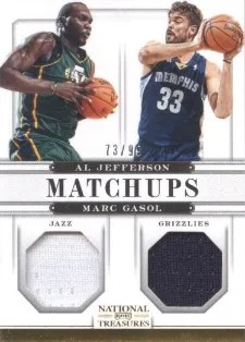 12/13 Panini National Treasures Matchups All Jefferson - Marc Gasol