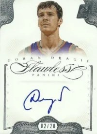 12/13 Panini Flawless Goran Dragic Auto #/20