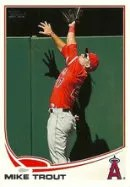 2013 Topps Series 1 Mike Trout Out of Bounds