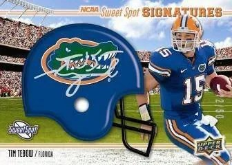 2010 UD NCAA Sweet Spot Football Tim Tebow Autograph