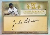 2010 Topps Franchise Tribute Cuts Jackie Robinson