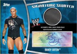 2010 Topps WWE Randy Orton Superstar Swatch Auto