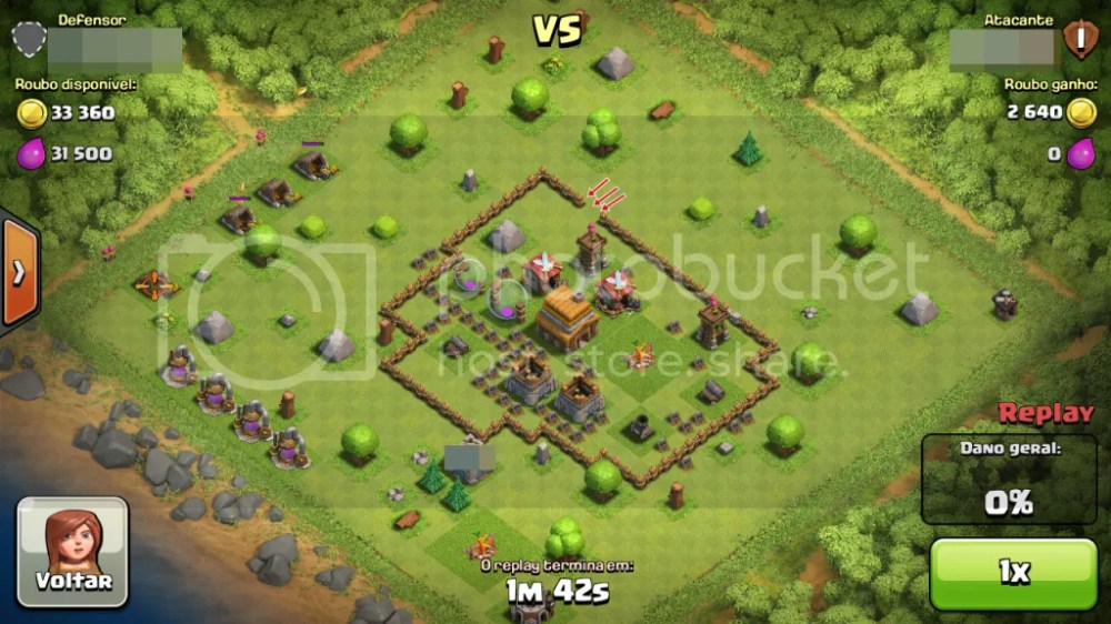 Clash of Clans - Muro com Buraco