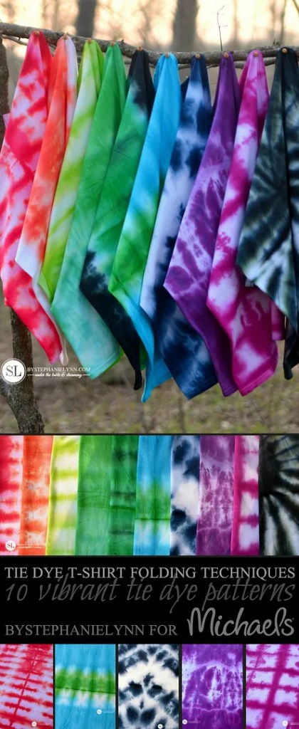!0 Vibrant Tie Dye Patterns #MakeItWithMichaels