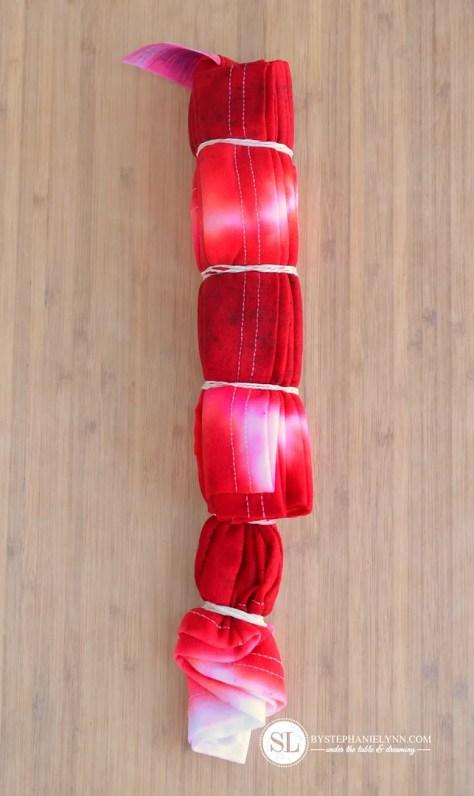 Accordion Rectangle Tie Dye Technique