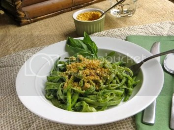 Iron Packed Pesto pasta