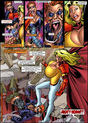 superheroines in distress