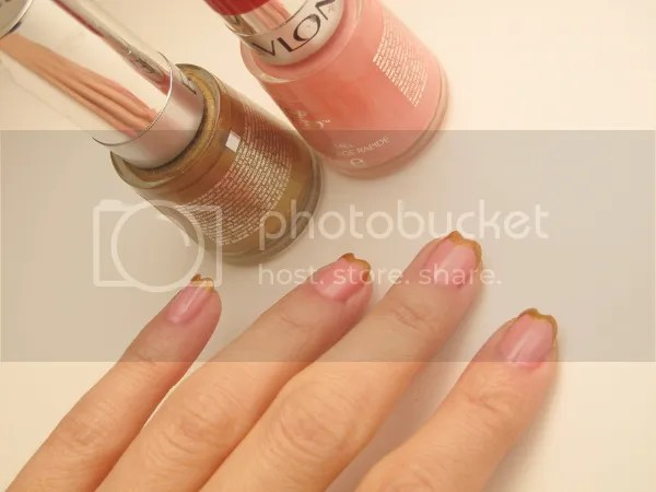 Mani HeartTips Nailart3 zps0a3a43d2 {Nail It} I Bask in Golden Heart Tips and Pink Lingerie