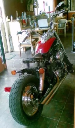 Custom 97 Honda Shadow Rear Quarter
