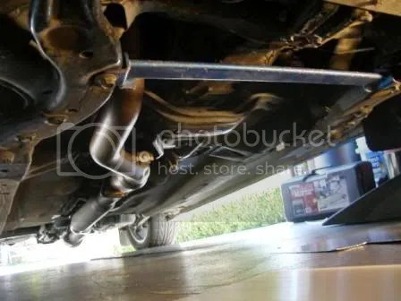 Impreza Underbody with Exposed Exhaust Pipe
