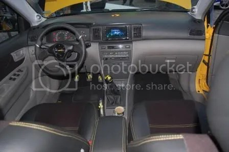 2002 Atomik Toyota Corolla Altis by FM Garage, SEATMATE, and JC Car Audio Interior