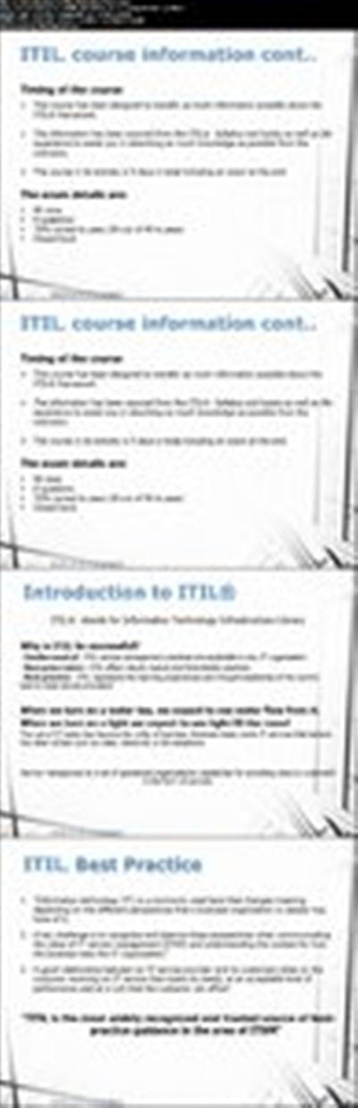 "ITIL Intermediate: OSA Operational Support & Analysis ""Lite"""