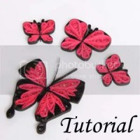 paper quilled butterfly tutorial