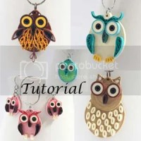 paper quilled owls jewelry tutorial