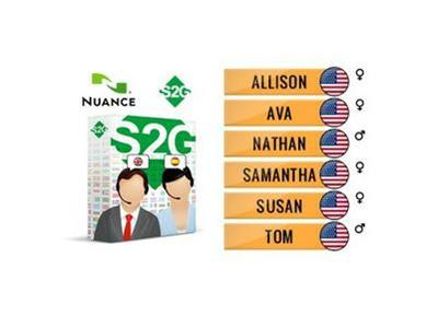Nuance Vocalizer Expressive.S2G + 6 American English Voices Premium