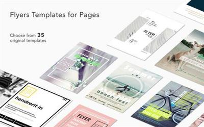 Flyers Templates for Pages 1.0 MacOS X
