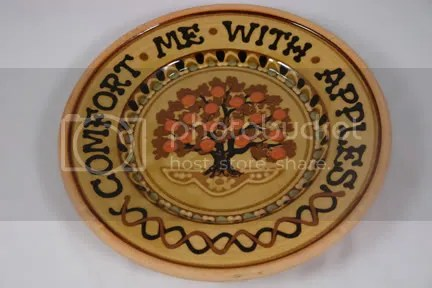 Comfort me with apples pottery charger