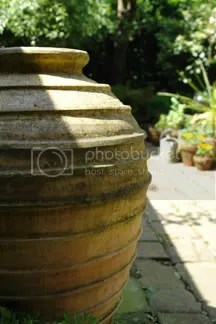 pottery urn