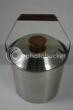 Vintage stainless steel & teak Lundtofte ice bucket