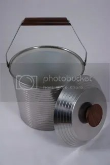 vintage stainless steel Lundofte ice bucket