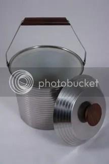 vintage stainless steel Lundofte ice bucket