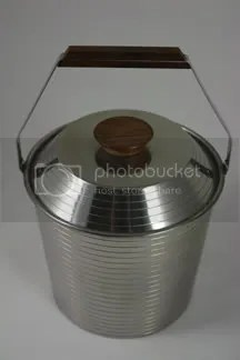 vintage stainless steel Lundtofte ice bucket