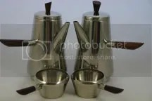 vintage stainless steel Lundtofte coffee set