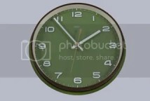 green vintage metamec clock