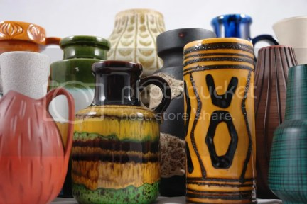 Collection of West German vases
