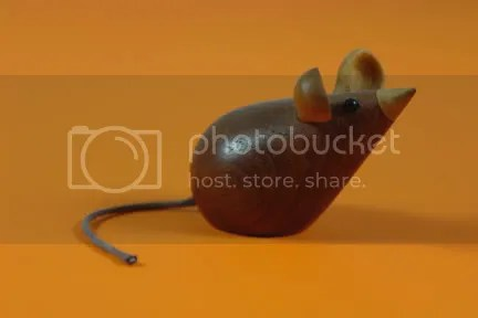 Vintage Scandinavian teak mouse