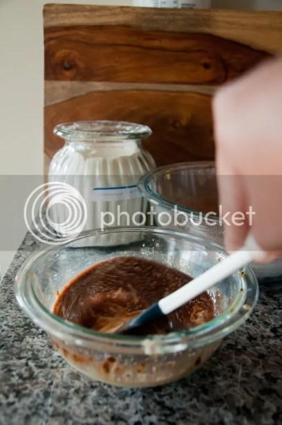 Mix wet ingredients