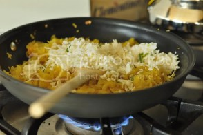 Add grated paneer