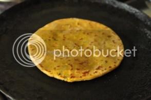 Fry parathas
