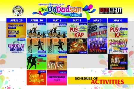 3rd Un Dadsan Festival, Barangay Dadiangas South