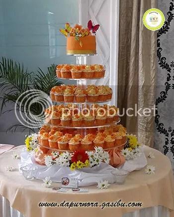 Wedding cupcake oranye Bandung