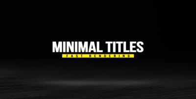 Minimal Titles Pack - Project for After Effects (VideoHive)