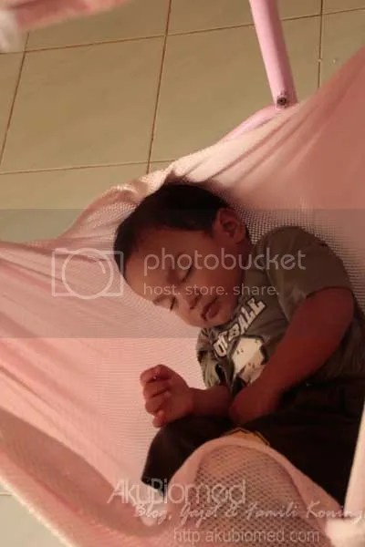 baby aslah tidur didalam buaian