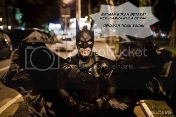 Pesanan Batman Brazil jenayah tidak kacak