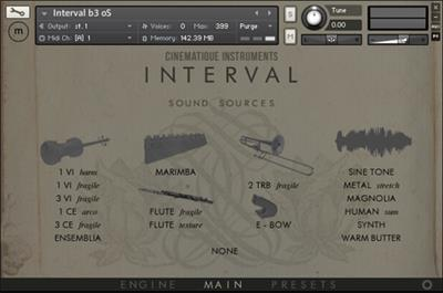Cinematique-Instruments Interval KONTAKT - R2